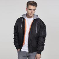 Urban Classics Hooded Oversized Bomber Jacket blk/gry