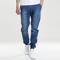 Urban Classics Knitted Denim Jogpants blue washed