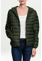 Urban Classics Ladies Basic Hooded Down Jacket darkolive