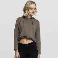Dámská mikina Urban Classics Ladies Cropped Terry Hoody army green