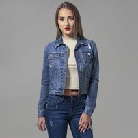 Urban Classics Ladies Denim Jacket ocean blue