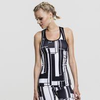 Urban Classics Ladies Graphic Sports Top black/white
