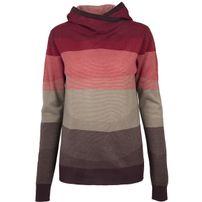 Urban Classics Ladies Multicolored High Neck Hoody red/multicolor