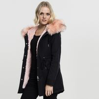 Urban Classics Ladies Peached Teddy Lined Parka black