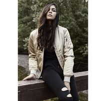 Urban Classics Ladies Satin Bomber Jacket gold