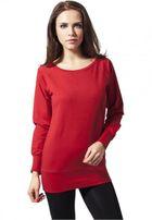 Urban Classics Ladies Wideneck Crewneck red