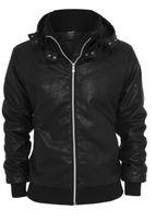Urban Classics Leather Imitation Jacket black