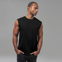 Urban Classics Open Edge Sleeveless Tee black