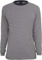 Urban Classics Striped Longsleeve T-Shirt navy/wht