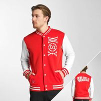 Who Shot Ya? Alpha College Jacket White/Red