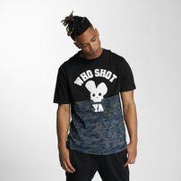 Pánské tričko Who Shot Ya? Darkcamou T-Shirt Black
