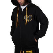 Panská Mikina Wu-Wear Wu Tang Clan WU Protect Ya Neck Zip Hoodie Black Gold