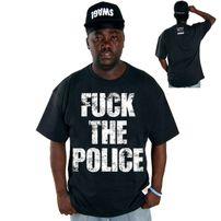 Cocaine Life Fuck The Police Tričko Černé