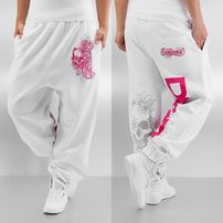 Dangerous DNGRS Flower Sweat Pants White