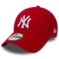 Kšiltovka New Era 9Forty MLB League Basic NY Yankees Scarlet White
