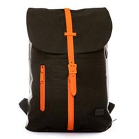 Spiral Tribeca Blackout Backpack Bag Black Orange