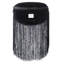 Ledvinka Spiral Velvet Tassels Black BL Label Bum Bag
