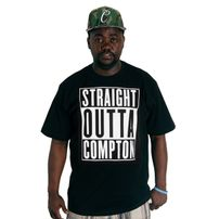 Thug Life Straight Outta Compton Tee Black
