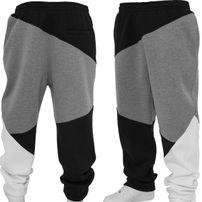 Urban Classics Zig Zag Sweatpants Black grey White