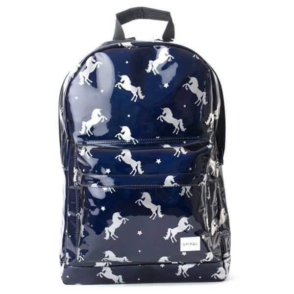 Batoh Spiral Black Unicorns Backpack Bag - UNI