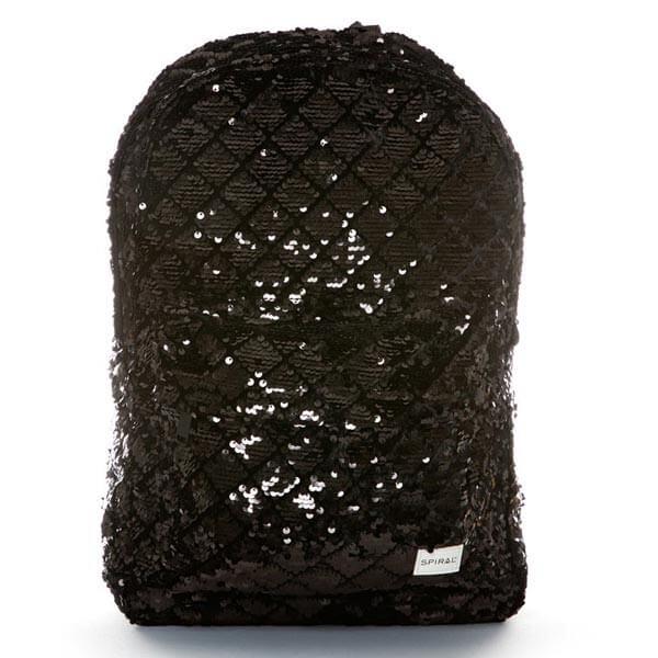 Batoh Spiral Diamond Sequins Backpack bag Black - UNI