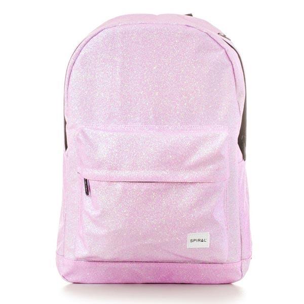 Batoh Spiral Glitter Backpack Bag Pink - UNI