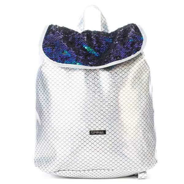 Batoh Spiral Liberty Ariel Sequins Silver Backpack Bag - UNI