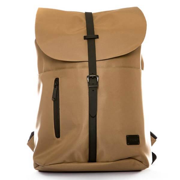 Spiral Tribeca Coated Backpack Bag Tan - UNI