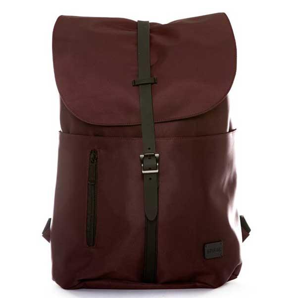 Spiral Tribeca Crosshatch Burgundy Backpack Bag - UNI