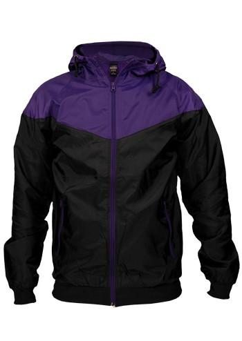 Urban Classic Arrow Windrunner Black Purple - 3XL