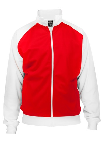 Urban Classic Sports Track Jacket Red White - XL