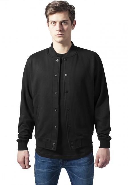 Urban Classics 2-tone College Sweatjacket blk/blk - XS
