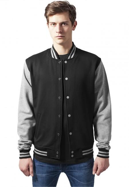 Urban Classics 2-tone College Sweatjacket blk/gry - XS