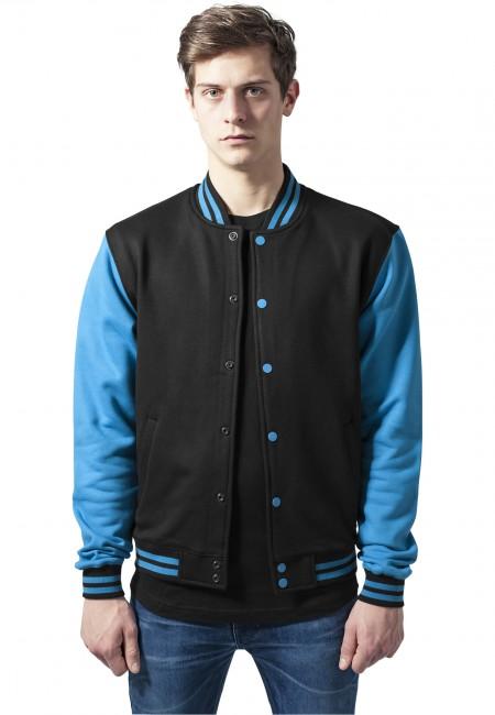 Urban Classics 2-tone College Sweatjacket blk/tur - M