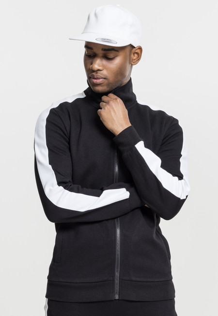 Urban Classics 2-Tone Interlock Track Jacket black/white - M