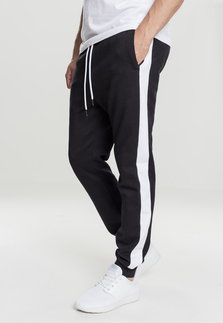Urban Classics 2-Tone InterlockTrack Pants black/white - M