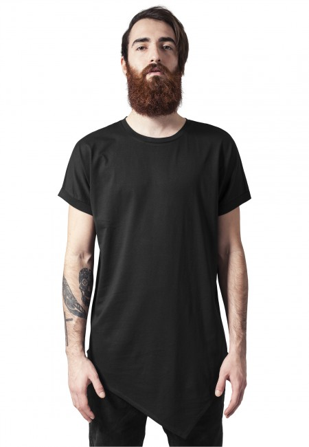 Urban Classics Asymetric Long Tee black - L