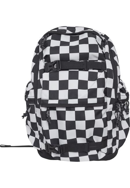 Urban Classics Backpack Checker black & white black/white - UNI