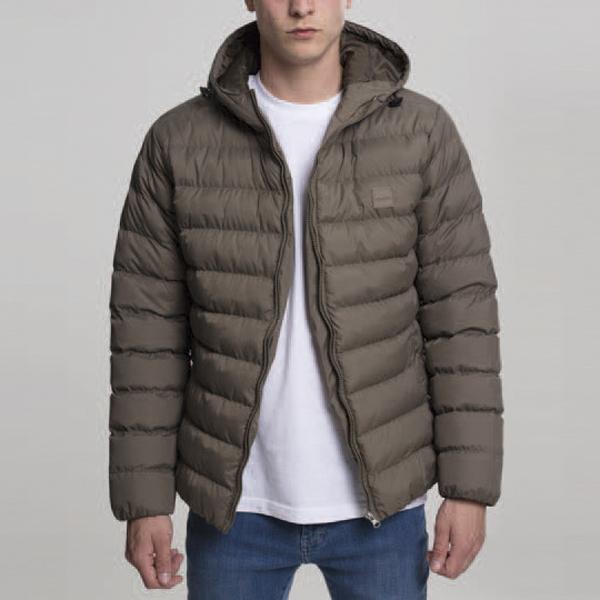 Pánská bunda Urban Classics Basic Bubble Jacket army green - S