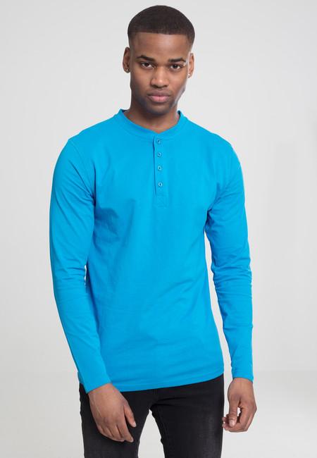 Urban Classics Basic Henley L/S Tee turquoise