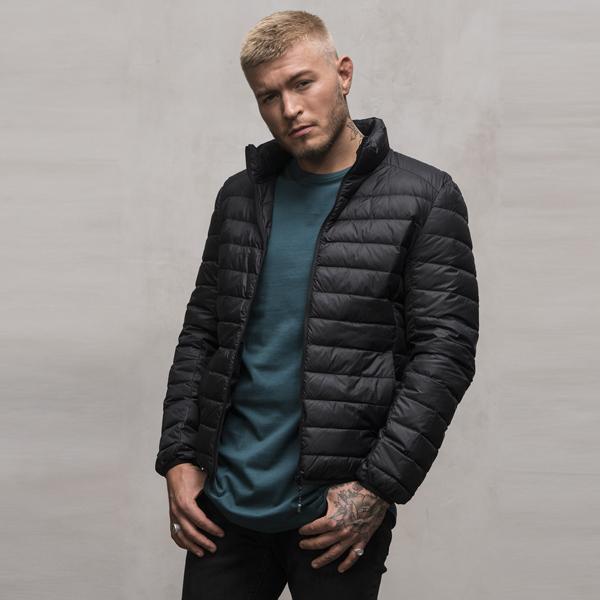 Urban Classics Basic Hooded Down Jacket black - L