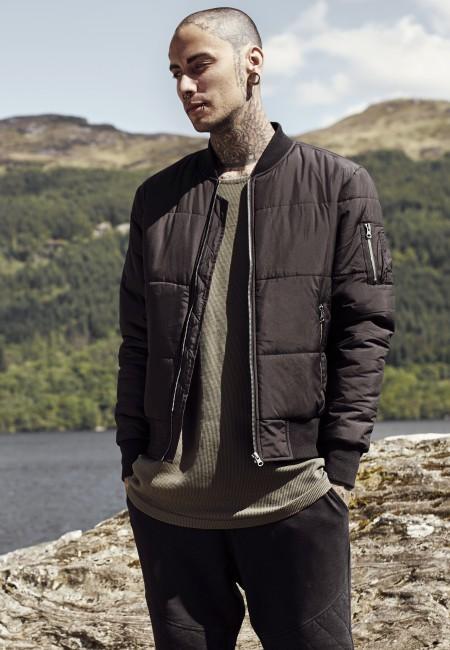 Urban Classics Basic Quilt Bomber Jacket black - L