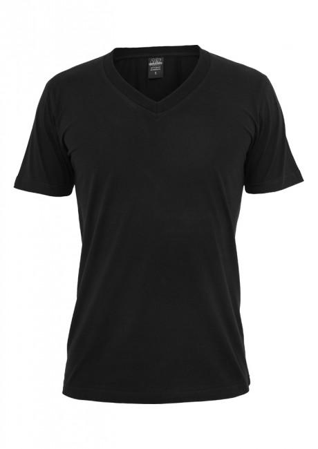 Urban Classics Basic V-Neck Tee black - XS