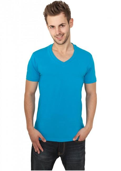 Urban Classics Basic V-Neck Tee turquoise - L