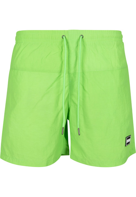 Urban Classics Block Swim Shorts neongreen