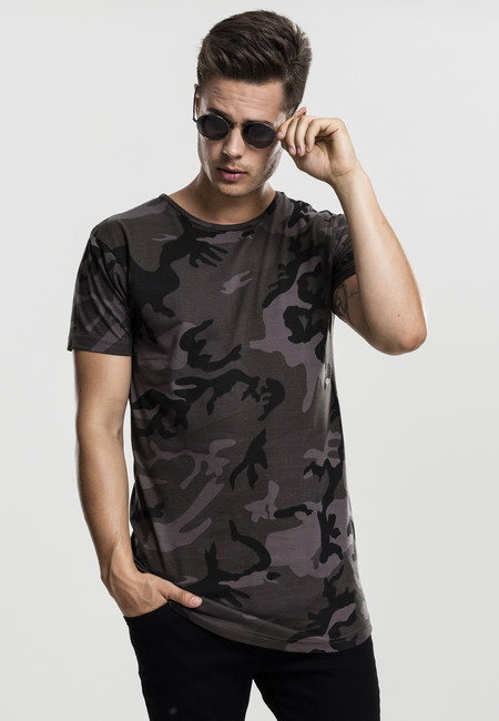 Urban Classics Camo Shaped Long Tee dark camo - M
