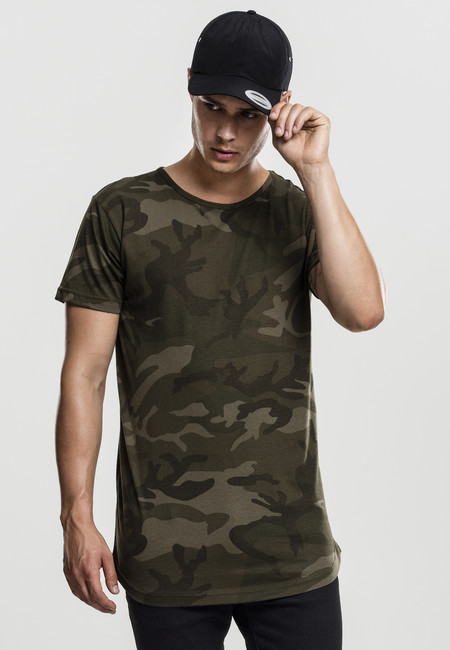 Urban Classics Camo Shaped Long Tee olive camo - M