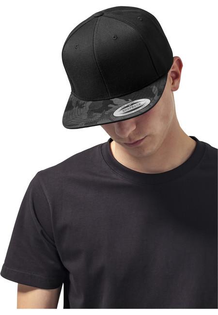 Urban Classics Camo Visor Snapback black camo - UNI