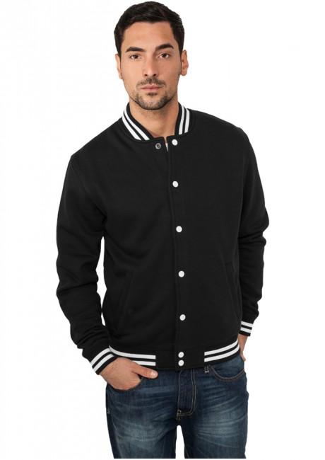 Urban Classics College Sweatjacket black - S