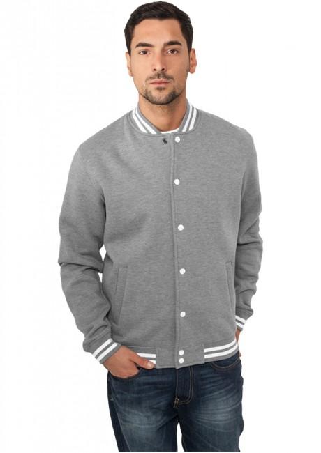 Urban Classics College Sweatjacket grey - XS